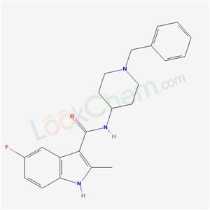 98621-78-4,N-(1-Benzyl-4-piperidyl)-5-fluoro-2-methylindole-3-carboxamide,