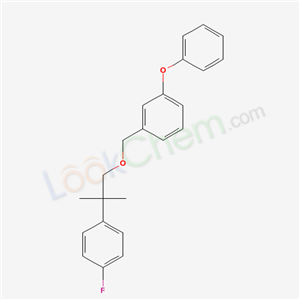 Molecular Structure of 80844-03-7 (1-fluoro-4-[2-methyl-1-[(3-phenoxyphenyl)methoxy]propan-2-yl]benzene)