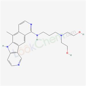 83948-03-2,Ethanol, 2,2-((3-((6-methyl-5H-pyrido(3,4:4,5)pyrrolo(2,3-g)isoquinolin-10-yl)amino)propyl)imino)di-, hydrate (2:1),