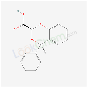 CAS NO:86616-94-6 4H-1,3-Benzodioxin-2-carboxylic acid, 4-methyl-4-phenyl-, cis- Molecular Structure