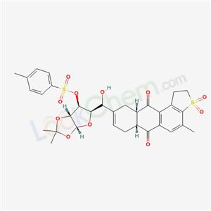 138381-42-7,alpha-D-Xylofuranose, 1,2-O-(1-methylethylidene)-5-C-(1,2,6,6a,7,10,10a,11-octahydro-4-methyl-6,11-dioxoanthra(2,1-b)thien-9-yl)-, 3-(4-methylbenzenesulfonate), S,S-dioxide, (6aR-(6a-alpha,9(S*),10a-alpha))-,