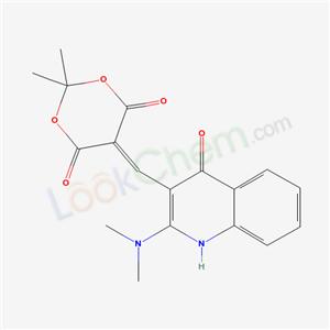 172753-45-6,5-[(2-dimethylamino-4-oxo-1H-quinolin-3-yl)methylidene]-2,2-dimethyl-1,3-dioxane-4,6-dione,