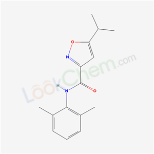 Molecular Structure of 130402-97-0 (N-(2,6-dimethylphenyl)-5-propan-2-yl-oxazole-3-carboxamide)
