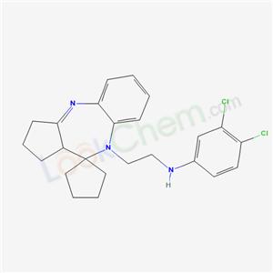 133307-96-7,Spiro(benzo(b)cyclopenta(e)(1,4)diazepine-10(9H),1-cyclopentane)-9-ethanamine, 1,2,3,10a-tetrahydro-N-(3,4-dichlorophenyl)-,
