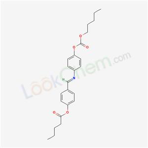 50261-59-1,Pentanoic acid, 4-(((4-(((pentyloxy)carbonyl)oxy)phenyl)imino)methyl)phenyl ester,