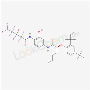 72494-14-5,(2S)-2-[2,4-bis(2-methylbutan-2-yl)phenoxy]-N-[3-hydroxy-4-(2,2,3,3,4,4,5,5-octafluoropentanoylamino)phenyl]hexanamide,