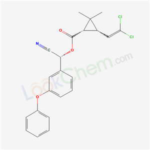 alpha-Cyano-3-phenoxybenzyl (1S-(1alpha(R*),3beta))-3-(2,2-dichlorovinyl)-2,2-dimethylcyclopropanecarboxylate