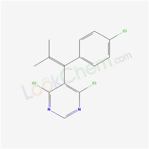 27228-63-3,4,6-dichloro-5-[1-(4-chlorophenyl)-2-methyl-prop-1-enyl]pyrimidine,