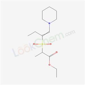 20449-14-3,ethyl 2-[1-(1-piperidyl)but-1-en-2-ylsulfonyl]propanoate,