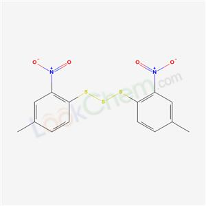 4274-36-6,4-methyl-1-(4-methyl-2-nitro-phenyl)sulfanyldisulfanyl-2-nitro-benzene,