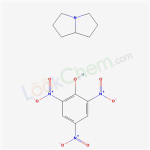 14129-07-8,2,3,5,6,7,8-hexahydro-1H-pyrrolizine; 2,4,6-trinitrophenol,