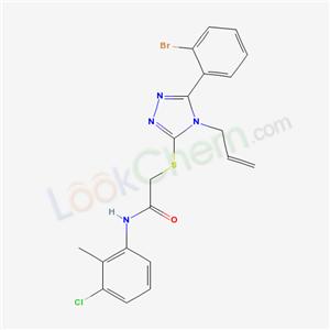 5117-10-2,2-[[5-(2-bromophenyl)-4-prop-2-enyl-1,2,4-triazol-3-yl]sulfanyl]-N-(3-chloro-2-methyl-phenyl)acetamide,