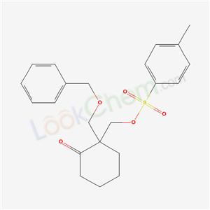 36370-27-1,2-[(4-methylphenyl)sulfonyloxymethyl]-2-(phenylmethoxymethyl)cyclohexan-1-one,