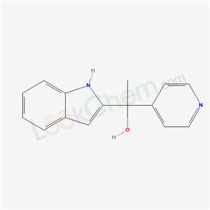 55950-05-5,1-(1H-indol-2-yl)-1-pyridin-4-yl-ethanol,