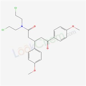 65321-74-6,N,N-bis(2-chloroethyl)-3,5-bis(4-methoxyphenyl)-5-oxo-pentanamide,