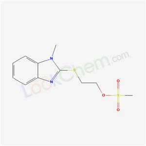 77168-16-2,1-methyl-2-(2-methylsulfonyloxyethylsulfanyl)benzoimidazole,