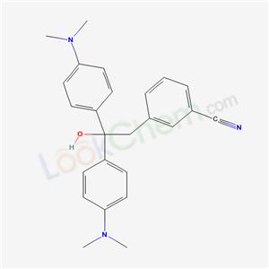 59483-76-0,3-[2,2-bis(4-dimethylaminophenyl)-2-hydroxy-ethyl]benzonitrile,