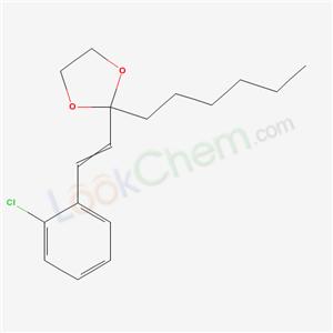 75144-01-3,2-[2-(2-chlorophenyl)ethenyl]-2-hexyl-1,3-dioxolane,