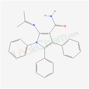 5228-78-4,1,4,5-triphenyl-2-(propan-2-ylideneamino)pyrrole-3-carboxamide,