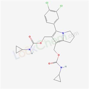74296-41-6,Carbamic acid, cyclopropyl-, [5-(3,4-dichlorophenyl)-2, 3-dihydro-1H-pyrrolizine-6,7-diyl]bis(methylene) ester,