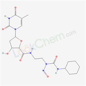 75930-28-8,N-[2-(cyclohexylcarbamoyl-nitroso-amino)ethyl]-3-hydroxy-5-(5-methyl-2,4-dioxo-pyrimidin-1-yl)oxolane-2-carboxamide,