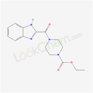 73903-08-9,ethyl 4-(1H-benzoimidazole-2-carbonyl)piperazine-1-carboxylate,