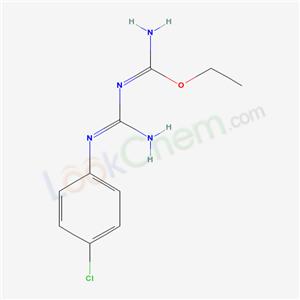 N-[N-(4-chlorophenyl)carbamimidoyl]-1-ethoxy-methanimidamide cas  69232-13-9