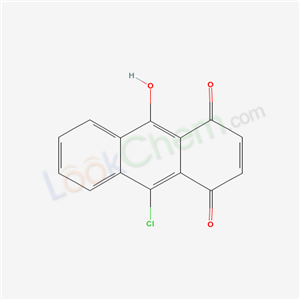 9-chloro-10-hydroxy-anthracene-1,4-dione