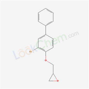 Molecular Structure of 18966-15-9 (2-[(2-bromo-4-phenyl-phenoxy)methyl]oxirane)