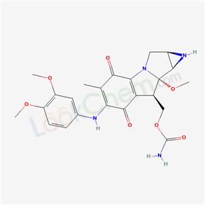 88854-47-1,Azirino[2,3:3,4]pyrrolo[1,2-a]indole-4,7-dione, 8-[[(aminocarbonyl)oxy]methyl]-6-[(3,4-dimethoxyphenyl)amino]-1, 1a,2,8,8a,8b-hexahydro-8a-methoxy-5-methyl-, [1aR-(1a.alpha., 8.beta.,8a.alpha.,8b.alpha.)]-,