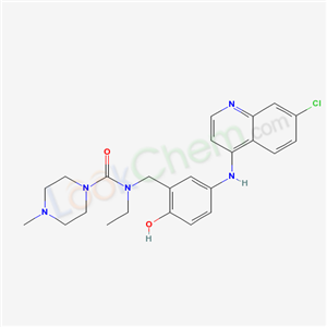 79352-86-6,N-[[5-[(7-chloroquinolin-4-yl)amino]-2-hydroxy-phenyl]methyl]-N-ethyl-4-methyl-piperazine-1-carboxamide,
