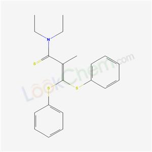 Molecular Structure of 80438-79-5 (N,N-diethyl-2-methyl-3,3-bis(phenylsulfanyl)prop-2-enethioamide)