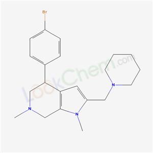 77819-62-6,5-(4-bromophenyl)-3,9-dimethyl-8-(1-piperidylmethyl)-3,9-diazabicyclo[4.3.0]nona-7,10-diene,