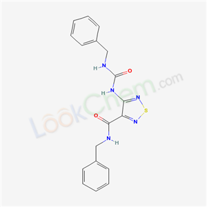 93873-73-5,N-benzyl-4-(benzylcarbamoylamino)-1,2,5-thiadiazole-3-carboxamide,