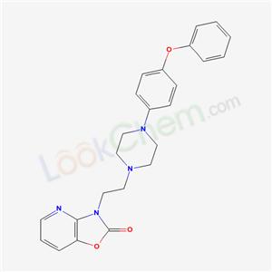 134337-04-5,3-(2-(4-(4-Phenoxyphenyl)-1-piperazinyl)ethyl)oxazolo(4,5-b)pyridin-2(3H)-one,