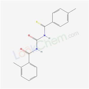 58554-27-1,2-methyl-N-[(4-methylbenzenecarbothioyl)carbamoyl]benzamide,
