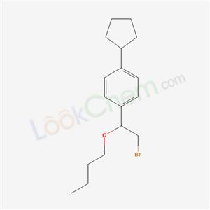 21270-09-7,1-(2-bromo-1-butoxy-ethyl)-4-cyclopentyl-benzene,
