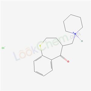 21609-71-2,5-(3,4,5,6-tetrahydro-2H-pyridin-1-ylmethyl)-2-thiabicyclo[5.4.0]undeca-7,9,11-trien-6-one chloride,