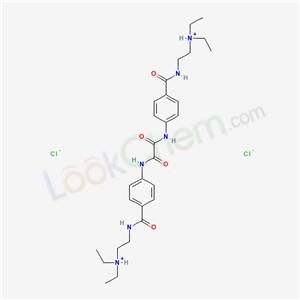 32956-81-3,2-[[4-[[[4-(2-diethylammonioethylcarbamoyl)phenyl]carbamoylformyl]amino]benzoyl]amino]ethyl-diethyl-azanium dichloride,