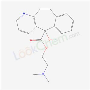 34144-31-5,5H-Benzo(4,5)cyclohepta(1,2-b)pyridine-5-carboxylic acid, 10,11-dihydro-5-hydroxy-, 2-(dimethylamino)ethyl ester,