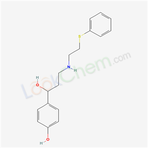 34920-62-2,Benzenemethanol, 4-hydroxy-alpha-(1-((2-(phenylthio)ethyl)amino)ethyl)-,