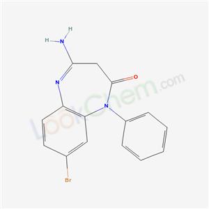 36985-34-9,2H-1,5-BENZODIAZEPIN-2-ONE, 1,3-DIHYDRO-4-AMINO-8-BROMO-1-PHENYL-,