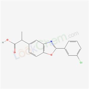 51234-29-8,2-[2-(3-chlorophenyl)benzooxazol-5-yl]propanoic acid,
