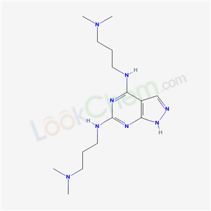 5437-16-1,N,N-bis(3-dimethylaminopropyl)-2,4,8,9-tetrazabicyclo[4.3.0]nona-2,4,7,10-tetraene-3,5-diamine,