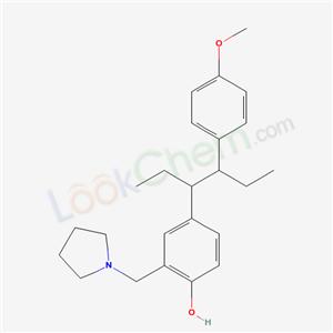 5446-44-6,4-[4-(4-methoxyphenyl)hexan-3-yl]-2-(pyrrolidin-1-ylmethyl)phenol,