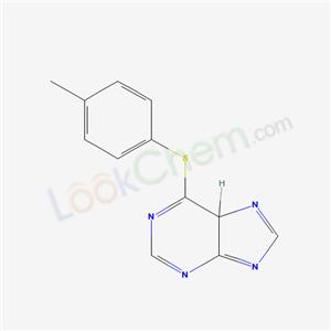 5444-08-6,6-(4-methylphenyl)sulfanyl-5H-purine,