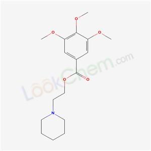 42013-41-2,2-(1-piperidyl)ethyl 3,4,5-trimethoxybenzoate,