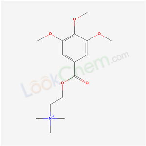 5470-33-7,trimethyl-[2-(3,4,5-trimethoxybenzoyl)oxyethyl]azanium,
