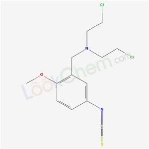 94522-58-4,2-chloro-N-(2-chloroethyl)-N-[(5-isothiocyanato-2-methoxy-phenyl)methyl]ethanamine,