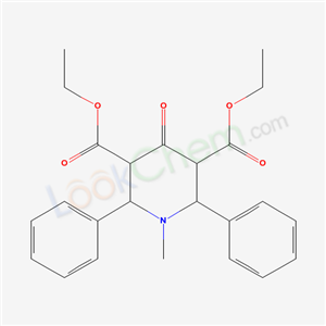 7153-69-7,diethyl 1-methyl-4-oxo-2,6-diphenyl-piperidine-3,5-dicarboxylate,